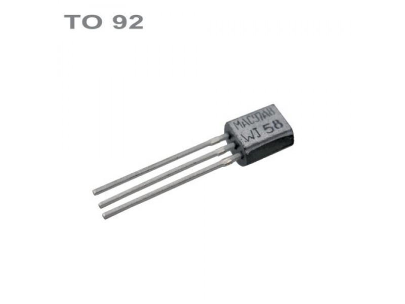 Tranzistor BC557B PNP 45V,0.1A,0.5W,100MHz TO92