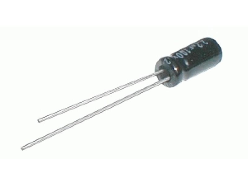 Kondenzátor elektrolytický 4M7/100V 5x11-2.5 105*C rad.C *