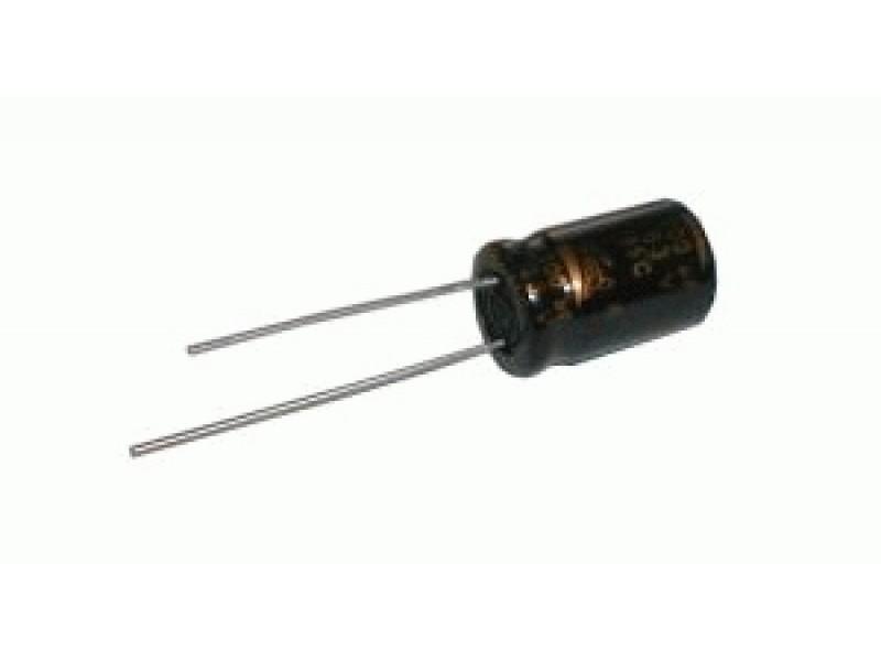 Kondenzátor elektrolytický 220M/63V 10x20-5 rad.C *
