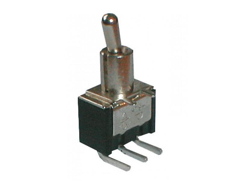 Prepínač páčkový 2pol./3pin ON-ON plošný spoj