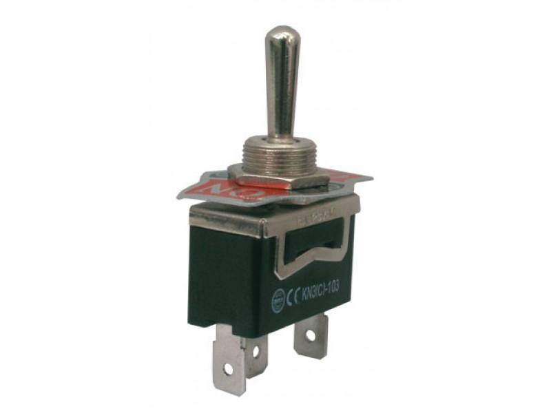 Prepínač páčkový 3pol./3pin (ON)-OFF-(ON) 250V/10A