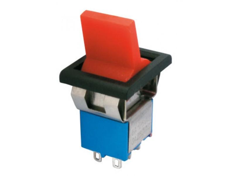 Prepínač páčkový 2pol./6pin ON-ON plastic/II 12V