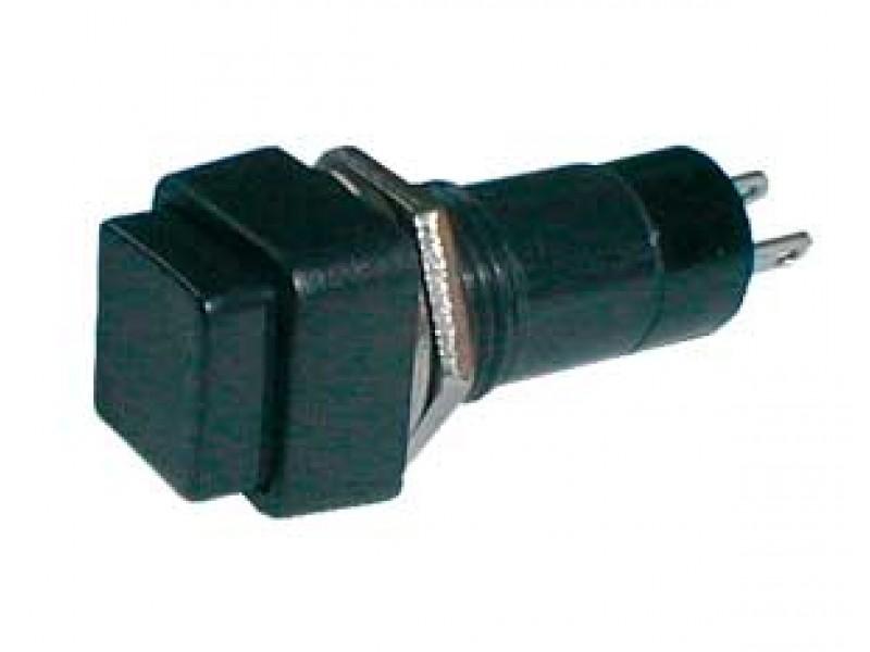 Prepínač tlačidlo štvorec OFF-(ON) 250V/1A čierne