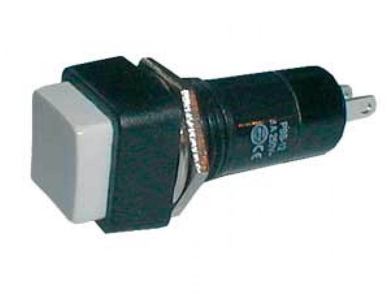 Prepínač tlačidlo štvorec OFF-(ON) 250V/1A biele
