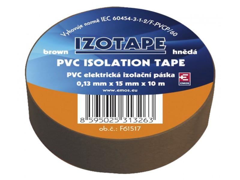 Páska izolačná PVC 15/10m hnedá EMOS