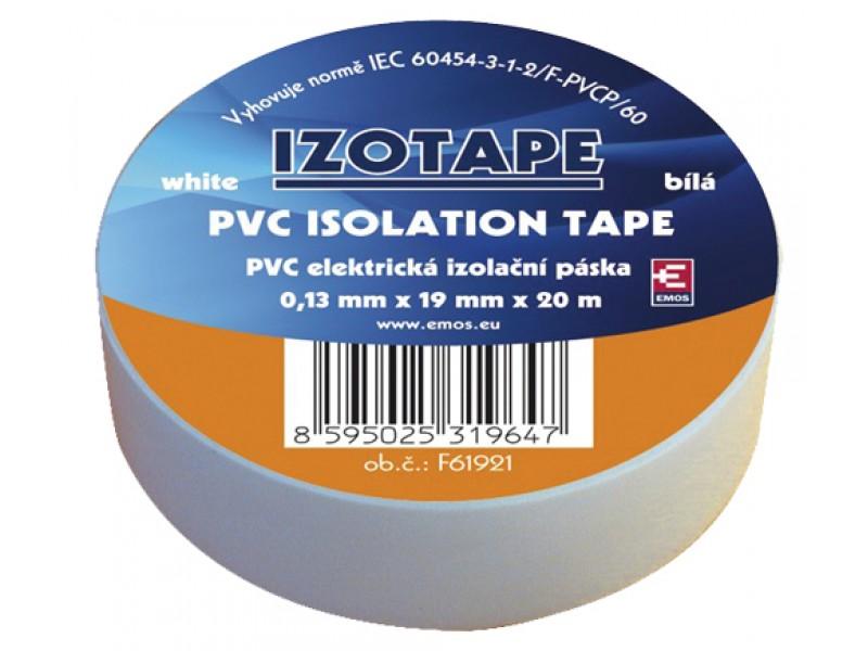 Páska izolačná PVC 19/20m biela EMOS