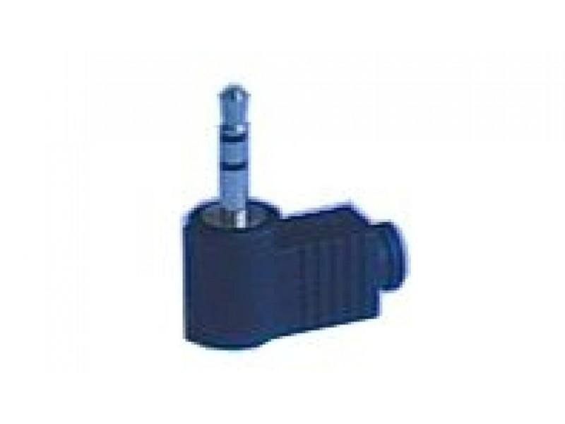 Konektor Jack 3.5 stereo uhlový plast