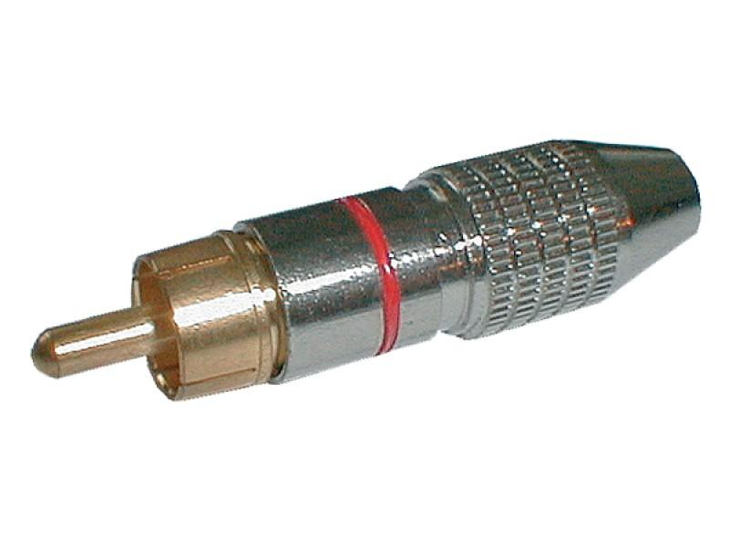 Konektor CINCH kábel kov nikel pr.5mm čierny