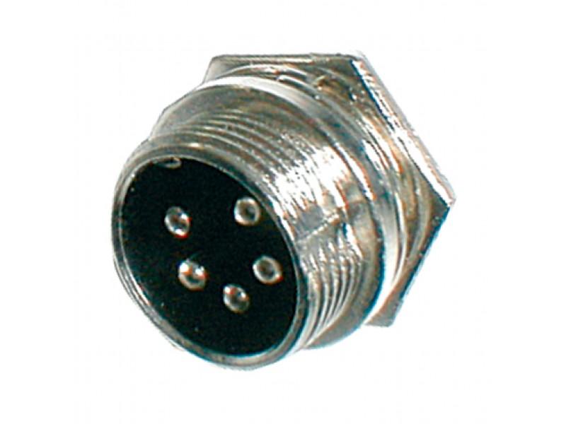 Konektor MIC panel kov 5PIN skrutkovacie