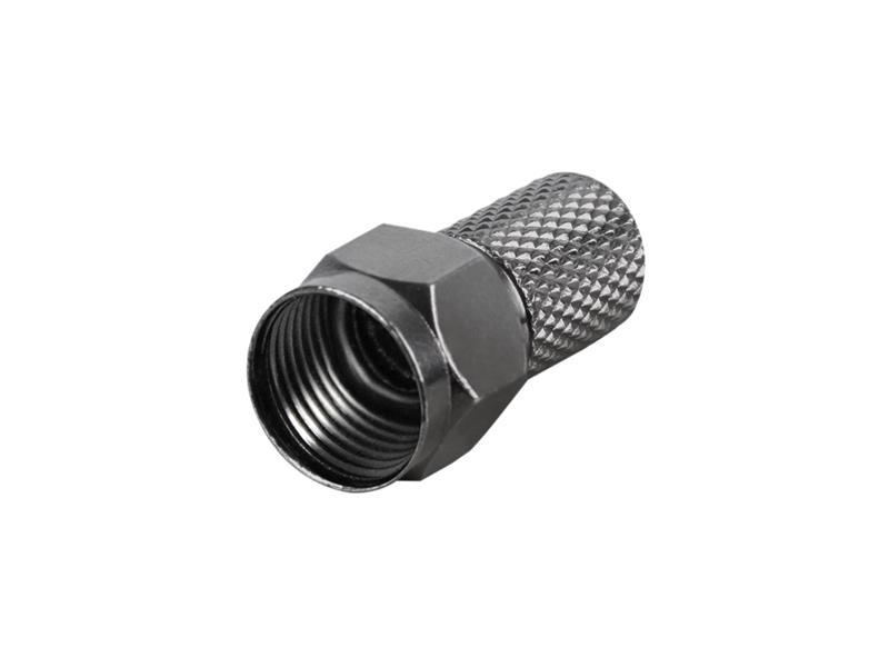 Konektor F HQ 6.8mm gum. krúžok, čierny