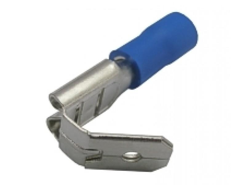 Zdierka faston rozvaděč 6.3mm, vodič 1.5-2.5mm modrý