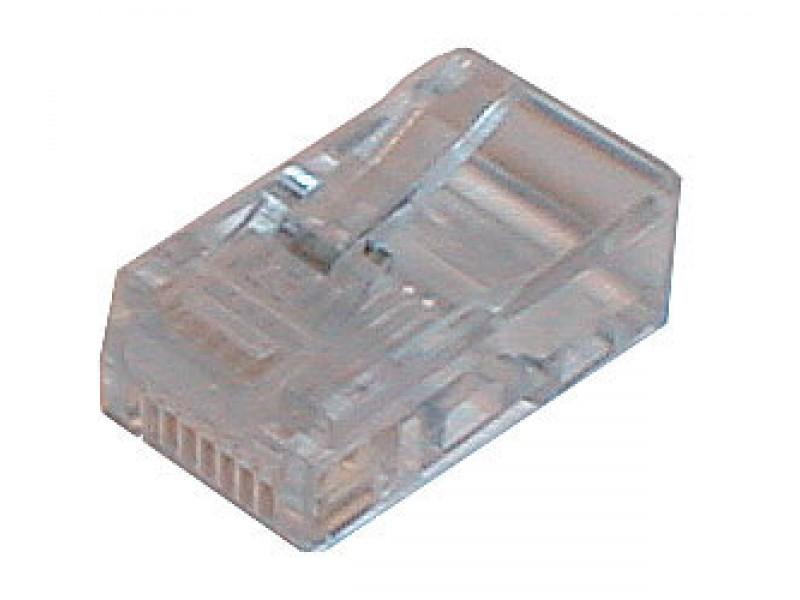 Konektor telefónny na kábel 6p-4c RJ11