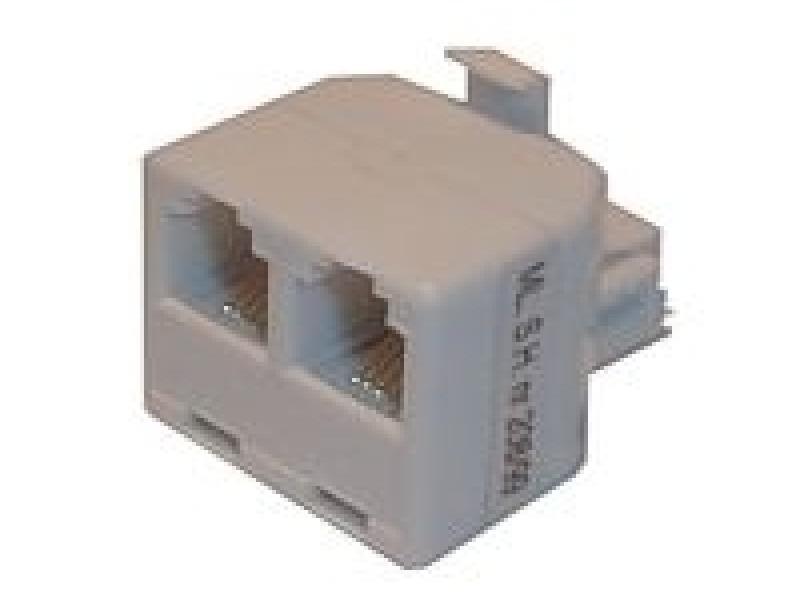 Redukcia telefónna konektor/ 2xzdierka 6p-4c