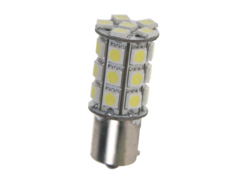 LED žiarovka 12V s paticí BA15s biela, 27LED/3SMD 95103