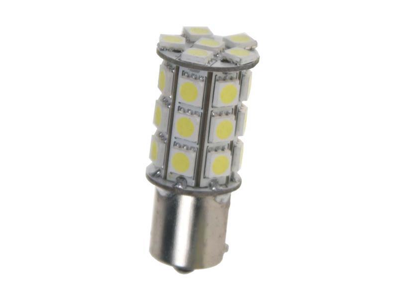 LED žiarovka 12V s paticí BAU15s biela, 27LED/3SMD 95123