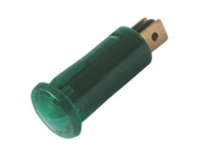 Kontrolka guľatá 12V DC zelená TIPA