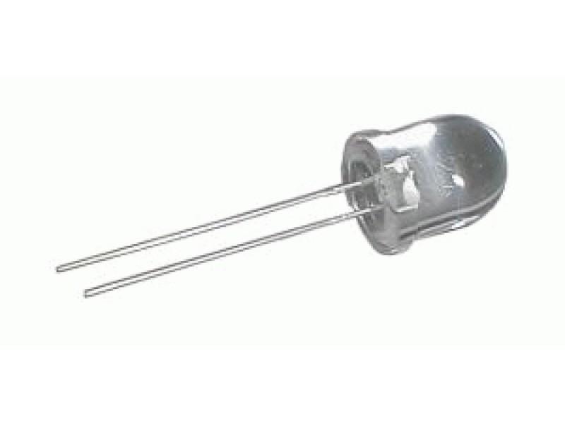 LED 10mm biela 6000mcd/30° číra