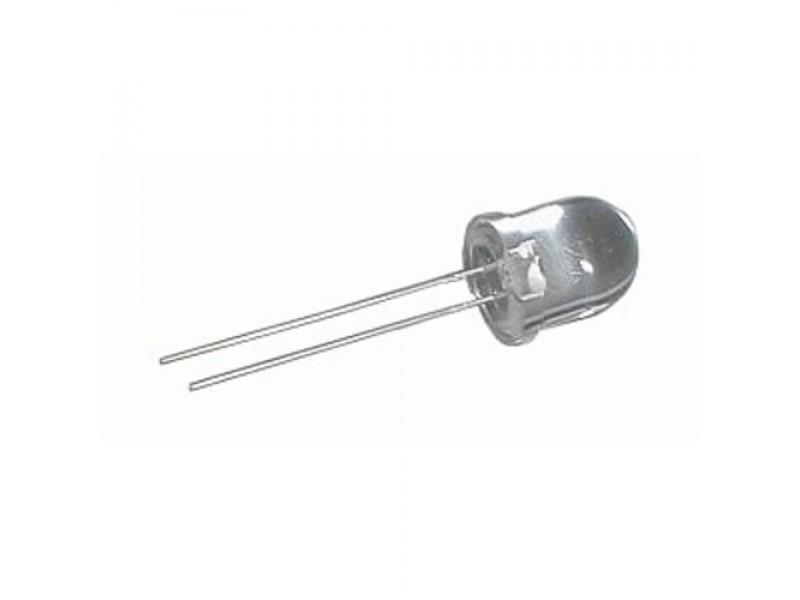 LED 10mm biela 15000mcd/30° číra