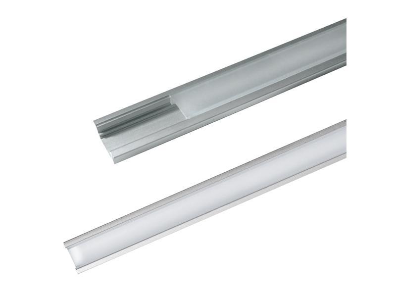 Hliníkový profil AR1 pre LED pásiky, k zapusteniu, s difúzorom, 2m