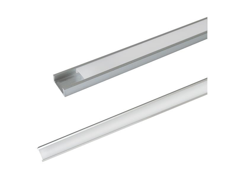 Hliníkový profil AS5 pre LED pásiky, povrchový, s difúzorom, 2m