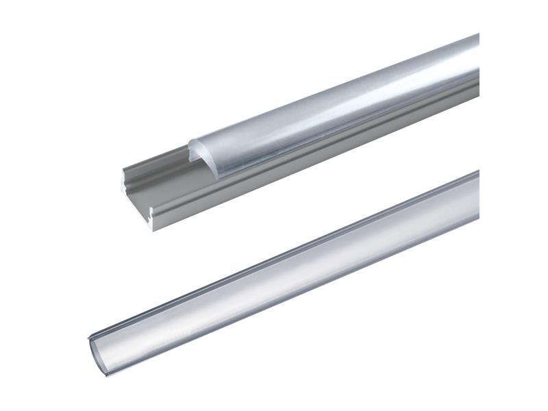 Hliníkový profil AL60 pre LED pásiky, povrchový, s vypuklým difúzorom, 2m