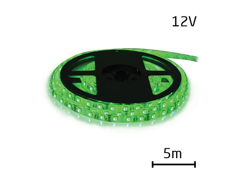 LED pásik 12V 5050 60LED/m IP20 max. 14.4W/m zelená (cievka 5m)