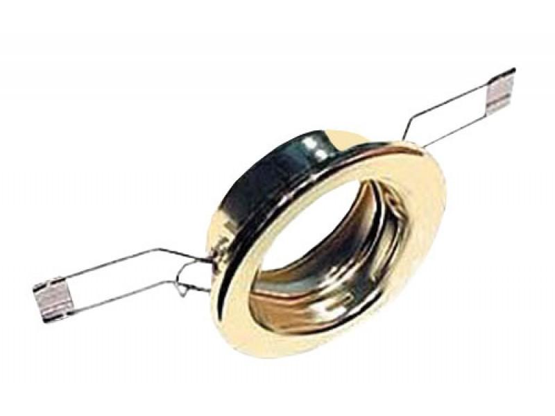 Svietidlo podhledové pevné zlaté pro žárovku 50mm MR,GU