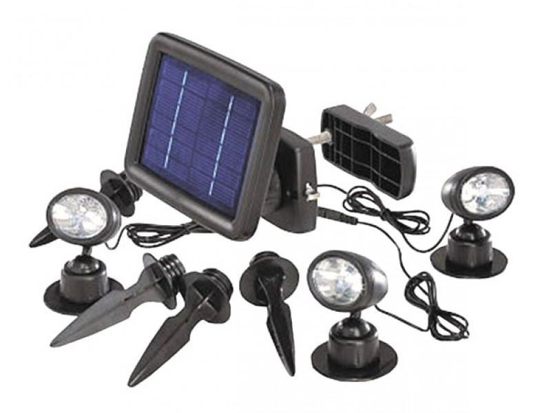 Svietidlo LED - Renkforce Trio, SP303K, čierna, 3 ks