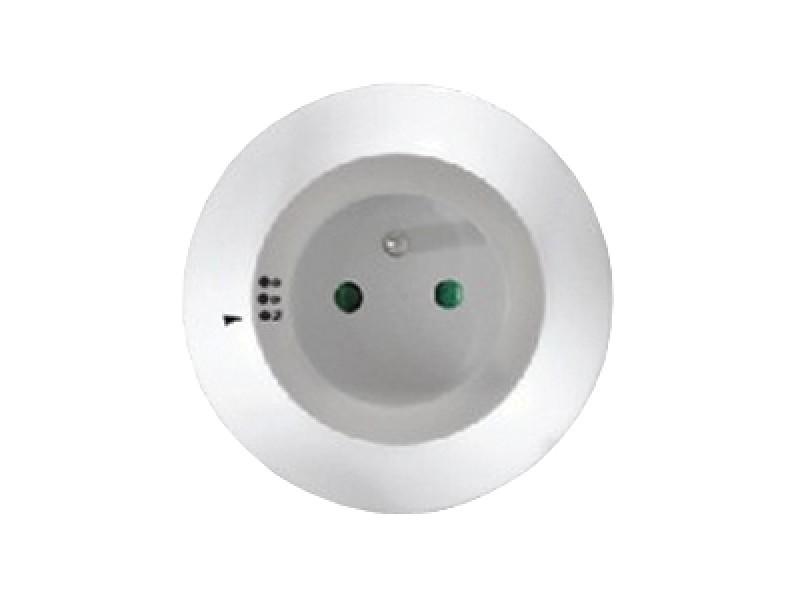 noční LED světélko s průběžnou zásuvkou, volitelné 3 barvy světla, senzor, 230V