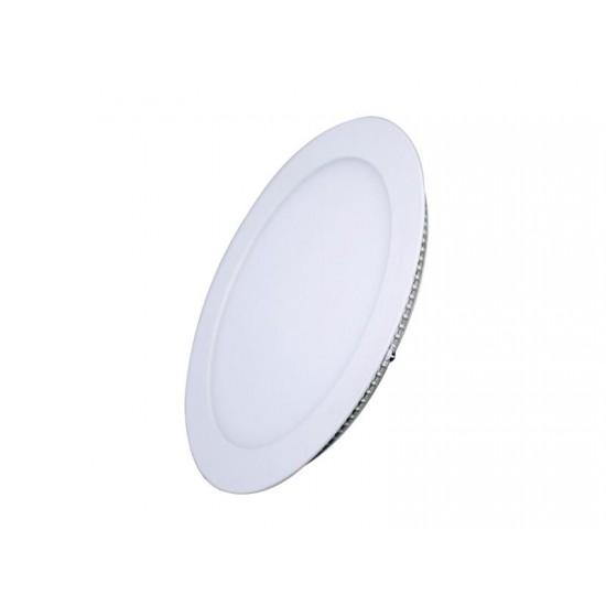 LED mini panel, podhľadový, 12W, 900lm, 3000K, tenký, kulatý, bílé WD105 SOLIGHT