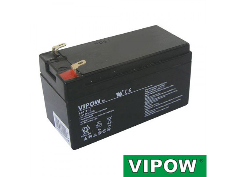 Batéria olovená 12V 1.3Ah VIPOW