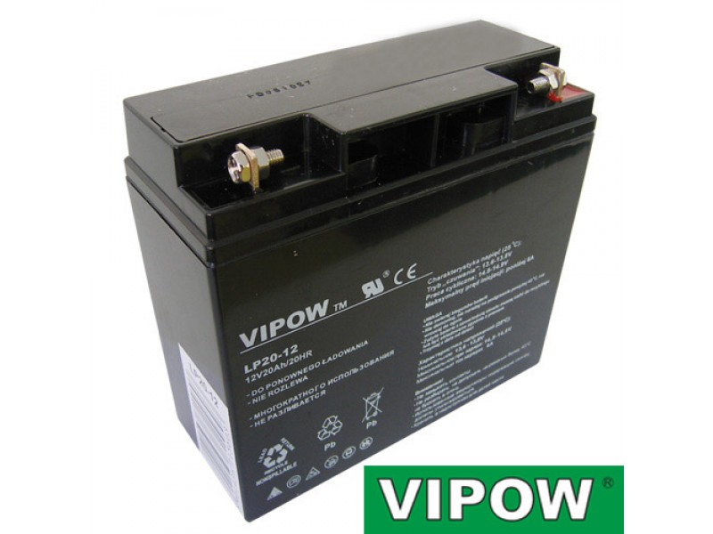 Batéria olovená 12V 20Ah VIPOW