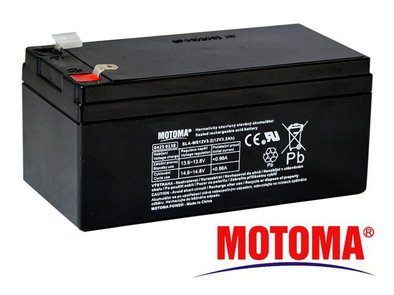 Batéria olovená 12V 3,2Ah MOTOMA bezúdržbový akumulátor