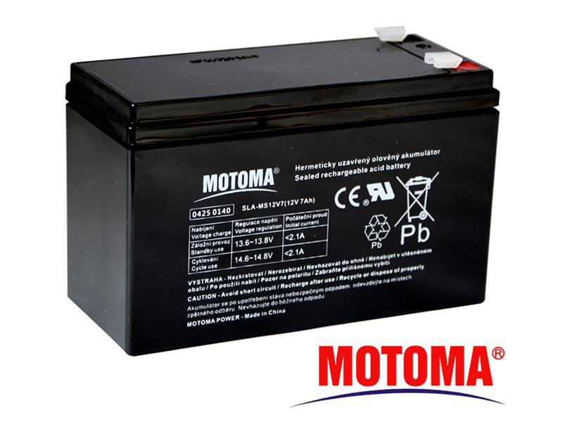 Batéria olovená 12V 7.0Ah MOTOMA (konektor 4,75 mm)