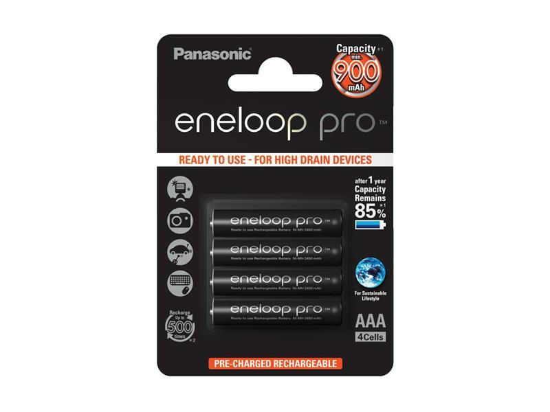 Batéria AAA (R03) nabíjacia 1,2V/900mAh Eneloop PANASONIC PRO 4ks