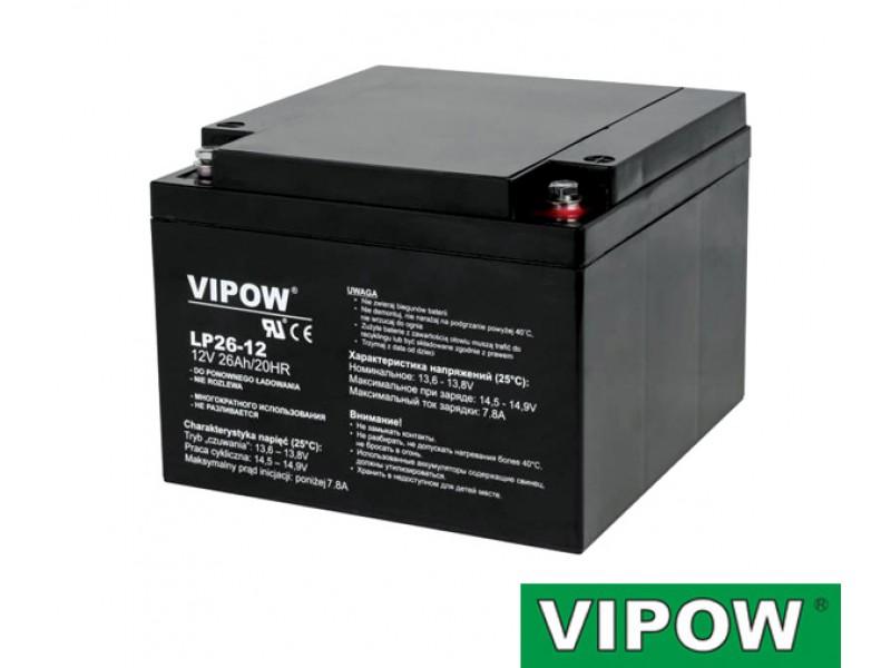 Batéria olovená 12V 26Ah VIPOW