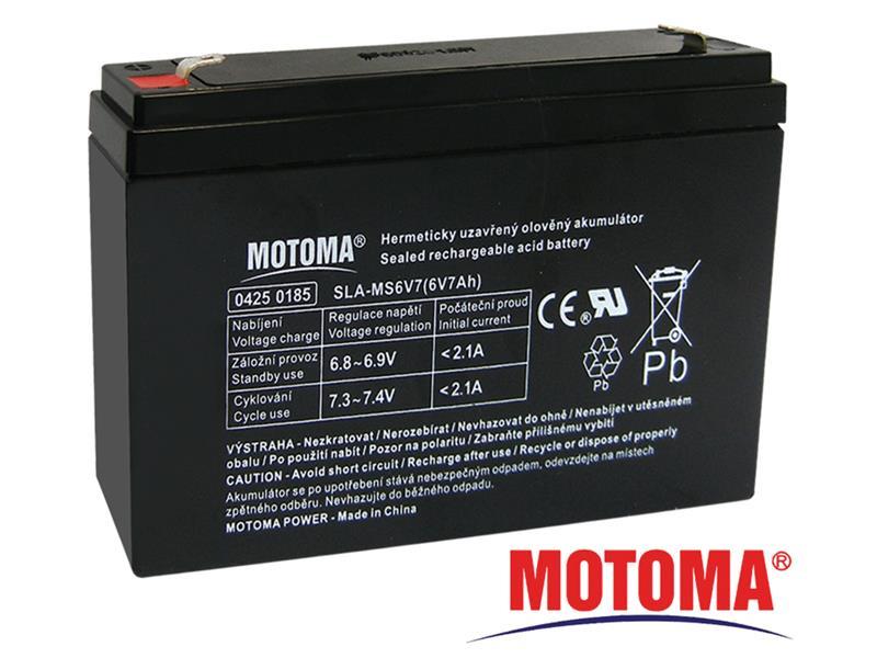 Batéria olovená 6V 7.0Ah MOTOMA