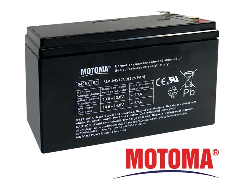 Batéria olovená 12V 9Ah MOTOMA (konektor 6,35 mm)