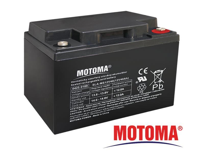 Batéria olovená 12V 40Ah MOTOMA pre solárne systémy