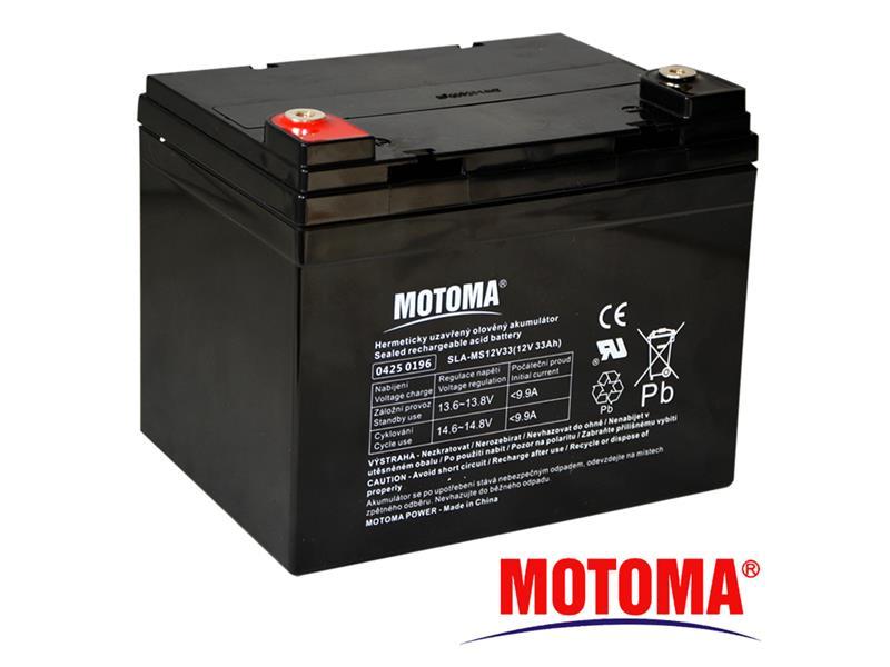 Batéria olovená 12V 33Ah MOTOMA bezúdržbový akumulátor