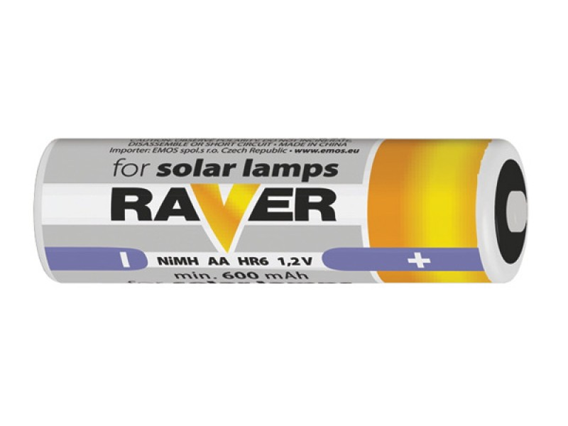 Batéria AA (R6) nabíjacia 1,2V/600mAh RAVER solar
