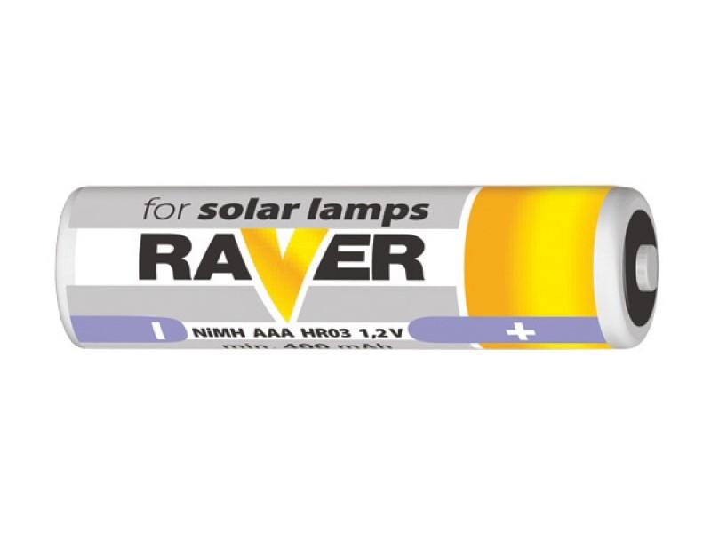 Batéria AAA (R03) nabíjacia 1,2V/400mAh RAVER solar