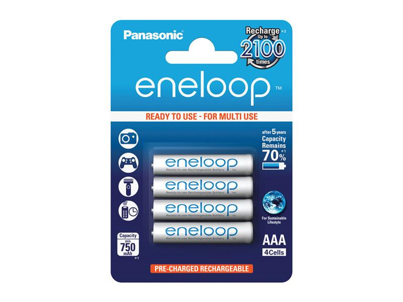 Batéria AAA (R03) nabíjacia 1,2V/750mAh Eneloop PANASONIC 4ks