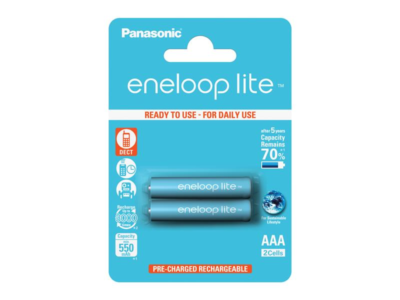 Batéria AAA (R03) nabíjacia 1,2V/550mAh Eneloop PANASONIC LITE 2ks