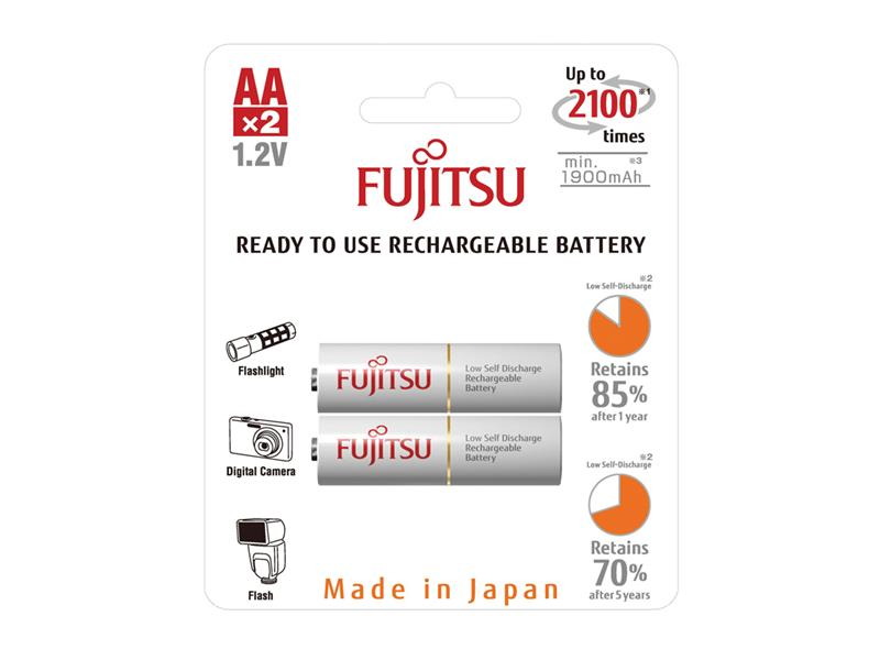 Batéria HR-3UTCEX-2B WHITE AA 2x FUJITSU nabíjací