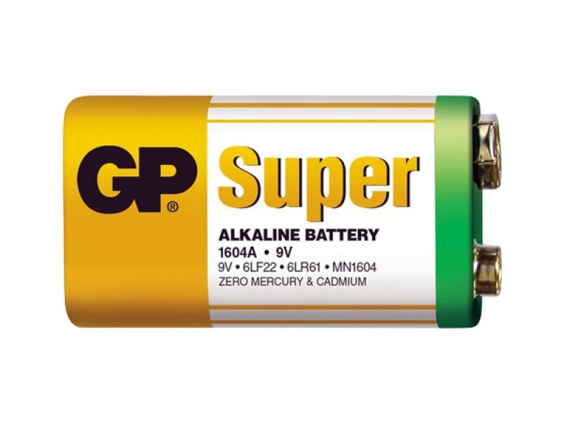 Batéria 6F22 (9V) alkalická GP Super Alkaline 9V