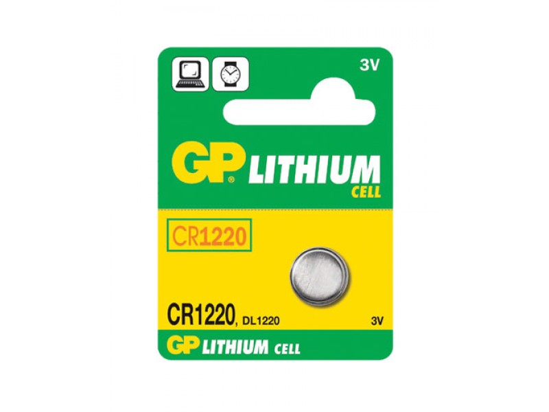 Batéria CR1220 GP lítiová