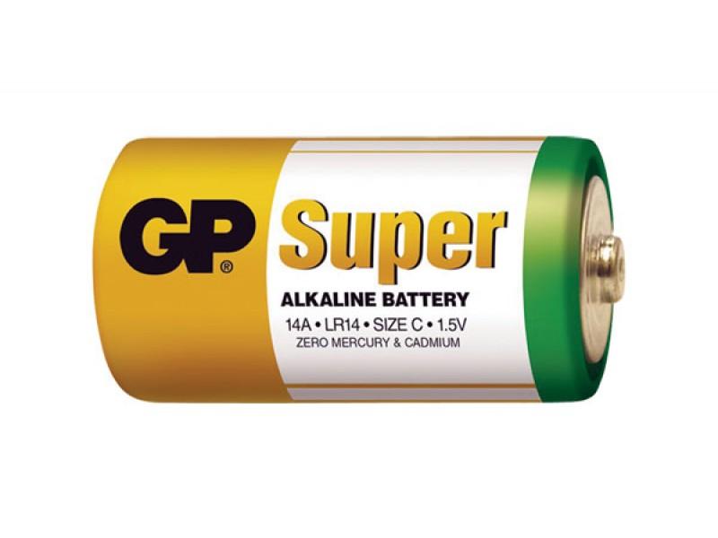 Batéria C (R14) alkalická GP Super Alkaline