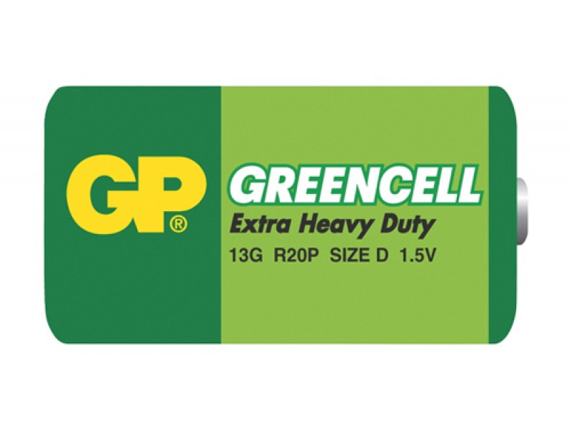 Bateria D (R20) Zn-Cl GP Greencell