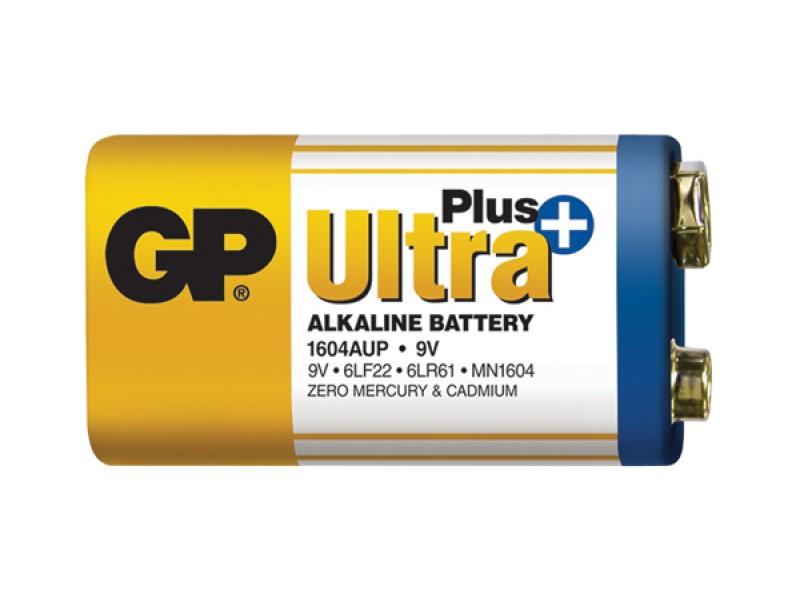 Batéria 6F22 (9V) alkalická GP Ultra Plus Alkaline 9V